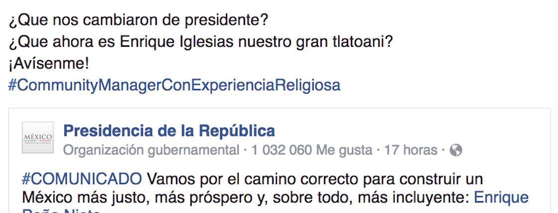 Confunden a Enrique Iglesias y Enrique Peña Nieto
