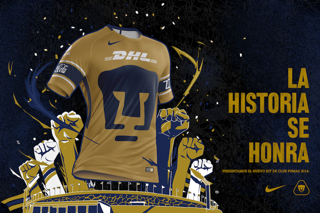 La historia se honra: Aquí está el tercer uniforme de Pumas