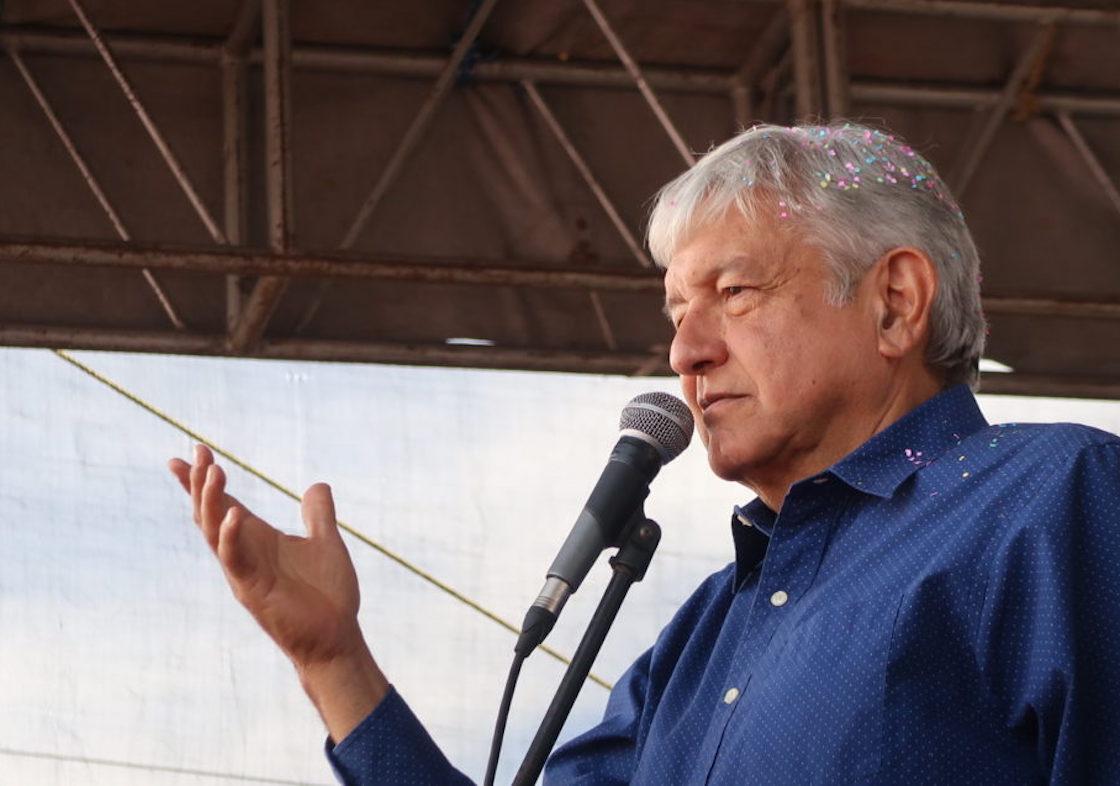 Andrés Manuel López Obrador, precandidato de Morena a la Presidencia