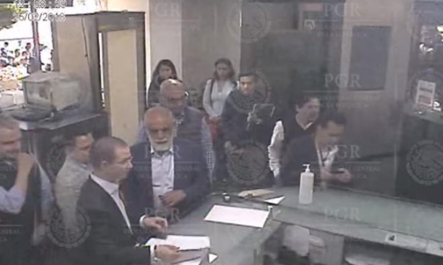Imagen del video difundido por PGR, Anaya en la SEIDO
