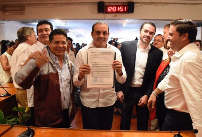 Registro como candidato de Cuauhtémoc Blanco