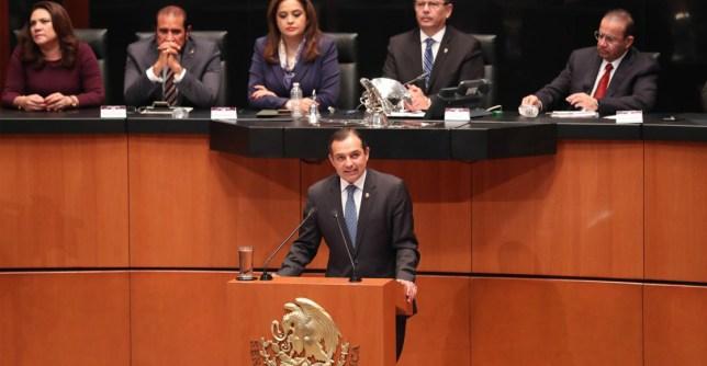 Ernesto Cordero en el Senado de la República