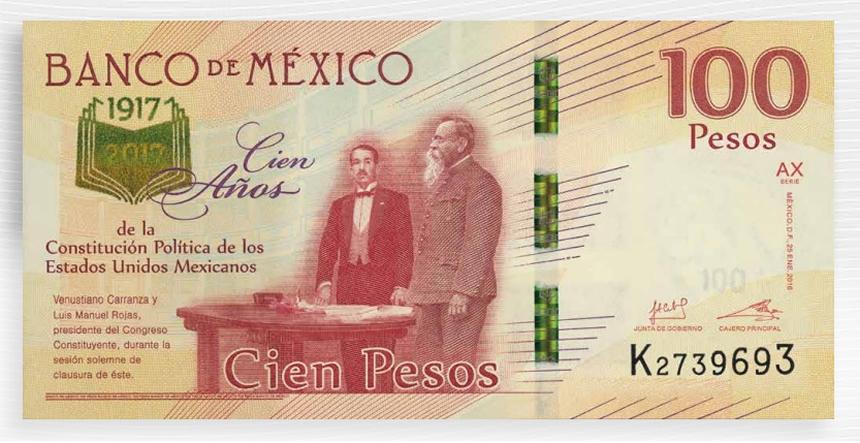 billete 100 conmemorativo Constitución