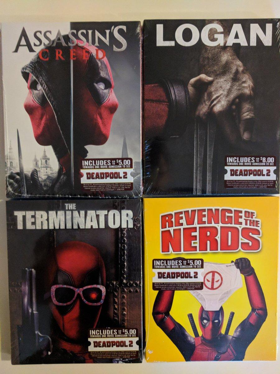 Deadpool se apropia de las portadas de las películas
