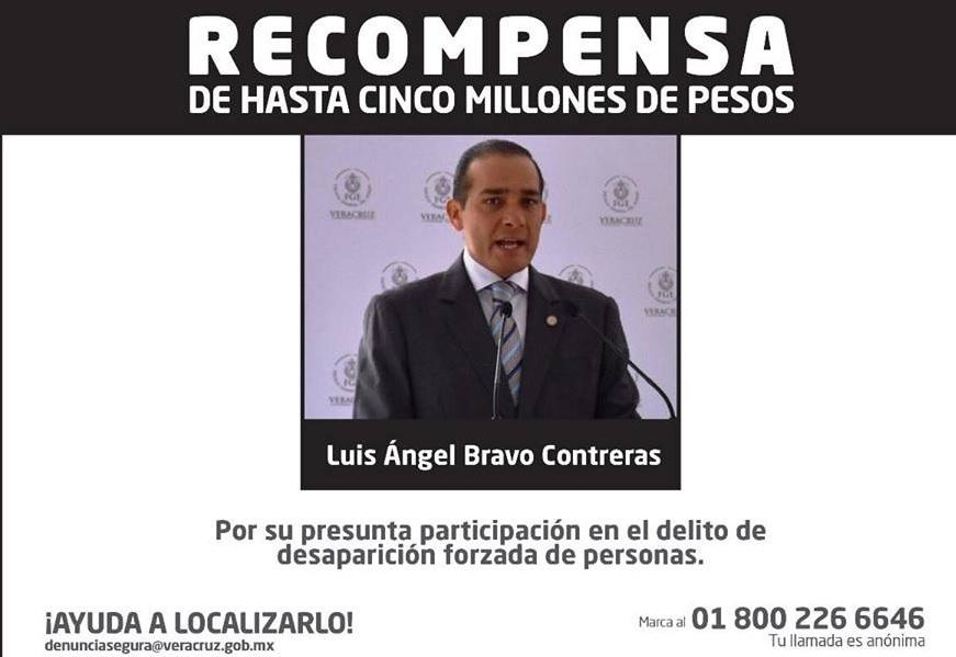 Ficha para localizar a exfiscal Luis Ángel Bravo