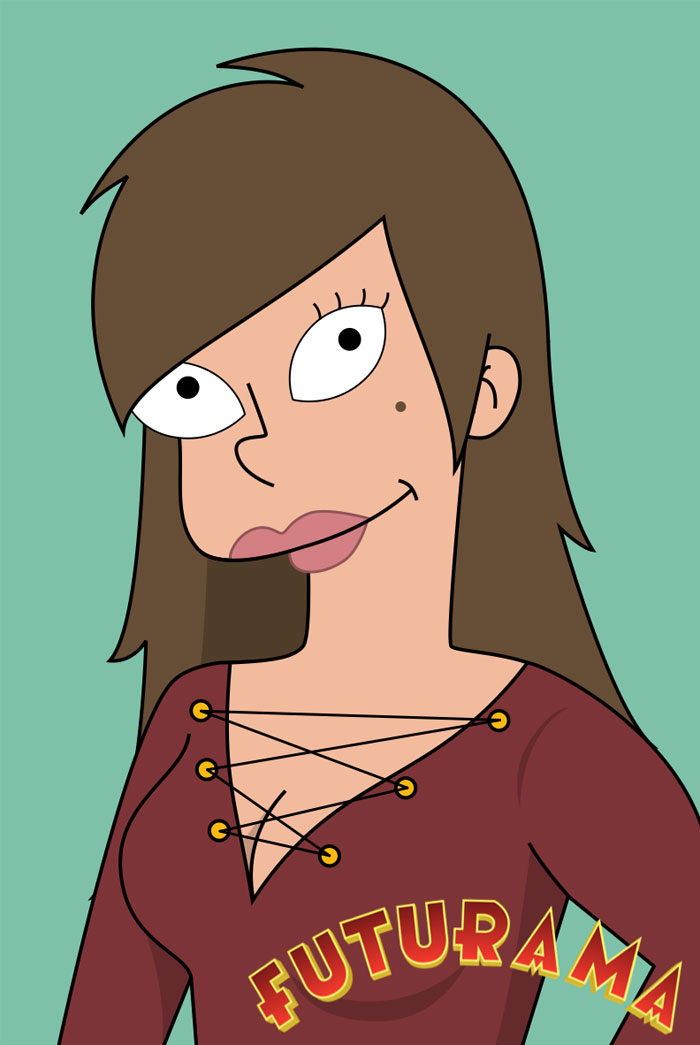 Una chica se dibujó a sí misma en versiones de caricaturas famosas y OMG