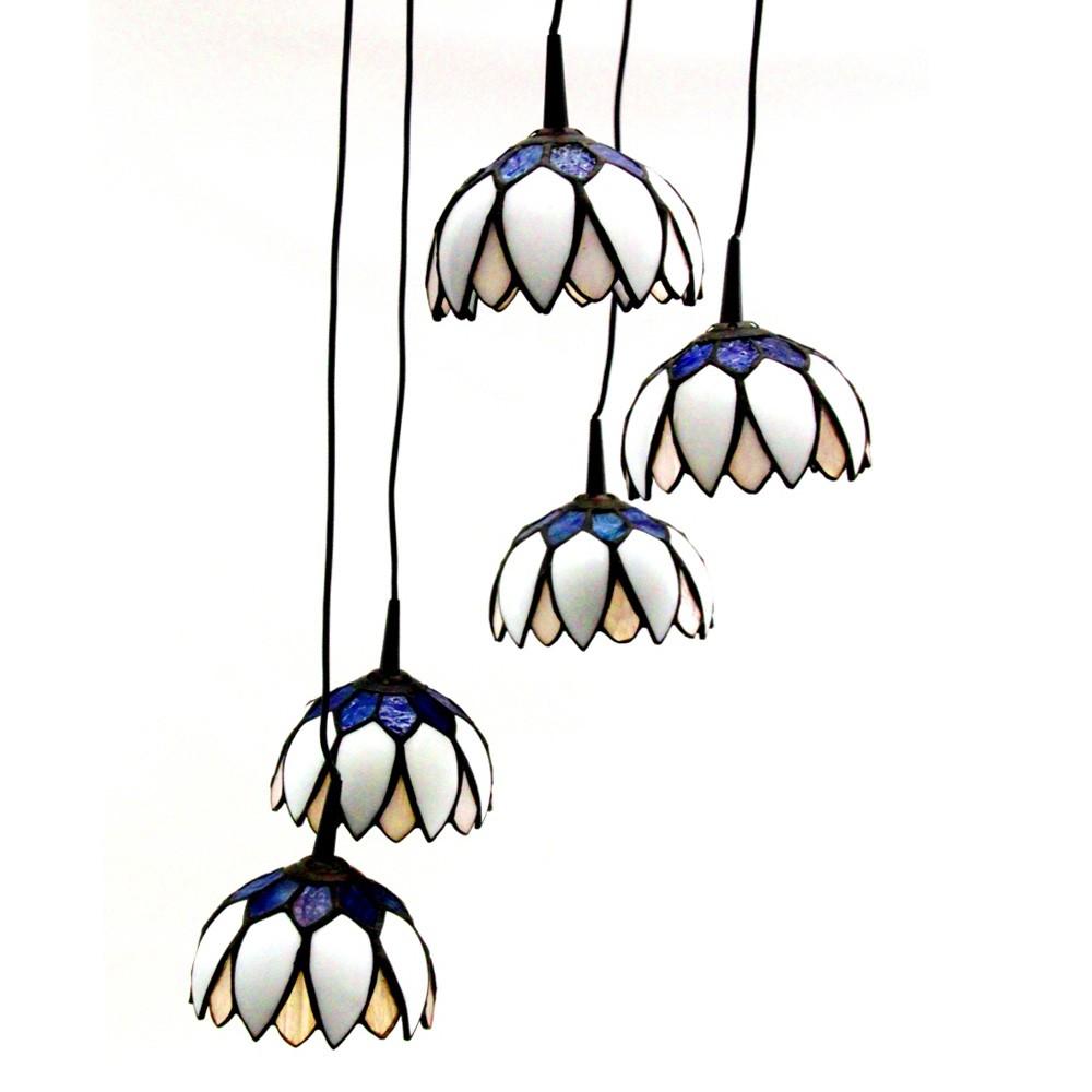 Hngeleuchte Tiffany 5 Flammig Hngelampe Wohnzimmer