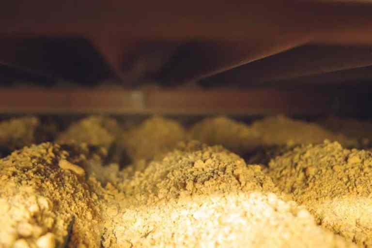 Séchage du soja extrudé