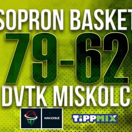 Nem kímélte a Sopron Basket a Miskolcot sem