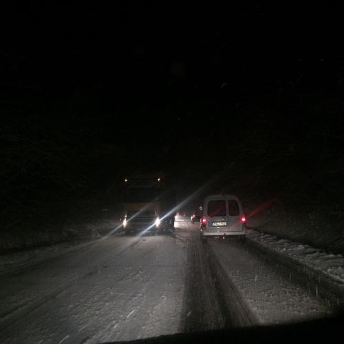 Hófúvások nehezíthetik a közlekedést a következő napokban!