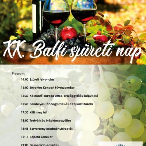 Szombaton gazdag programokat kínál a XX. Balfi Szüreti Nap