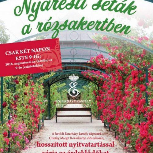 Nyáresti séta a Rózsakertben