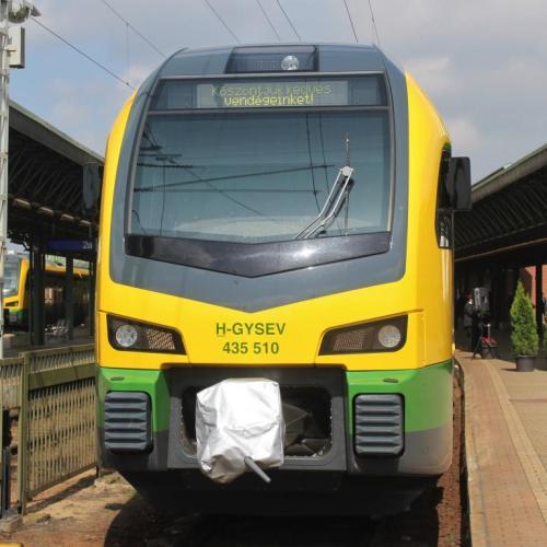 Megduplázta villamos motorvonatai számát a GYSEV Zrt. (képek)
