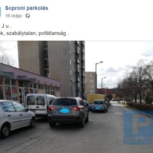 Soproni parkolással foglalkozó oldal indult a facebookon
