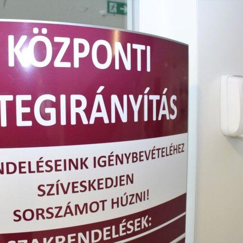 Időpontos rendszeren keresztül lehet bejutni a Soproni Gyógyközpontba