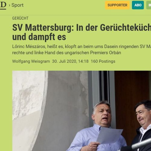 Osztrák lapértesülés szerint Mészáros Lőrinc megvenné az anyagi gondokkal küzdő SV. Mattersburgot