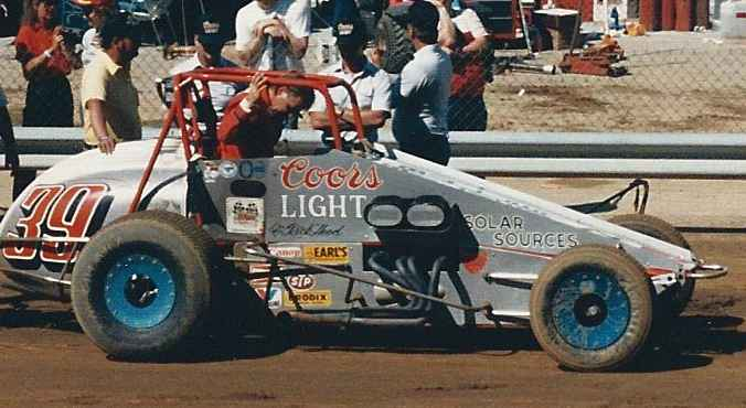 Rick Hoods gets ready to qualify for the 86 Hoosier Hundred