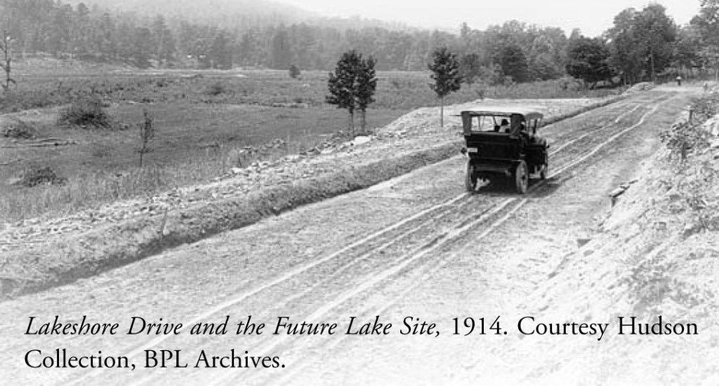 Track grading underway, 1914-1916