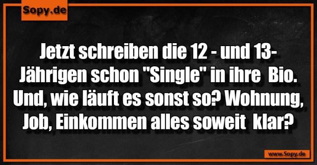 13 Jährigen schon Single