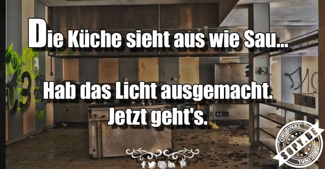 Küche sieht aus