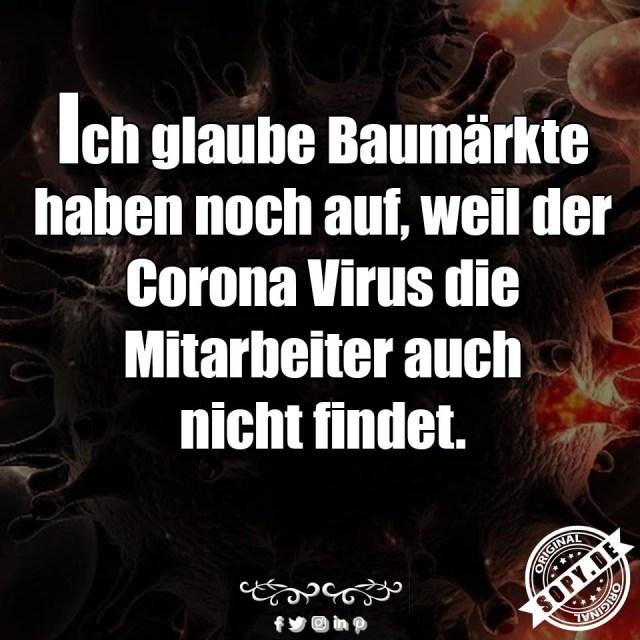 Corona Virus Baumärkte
