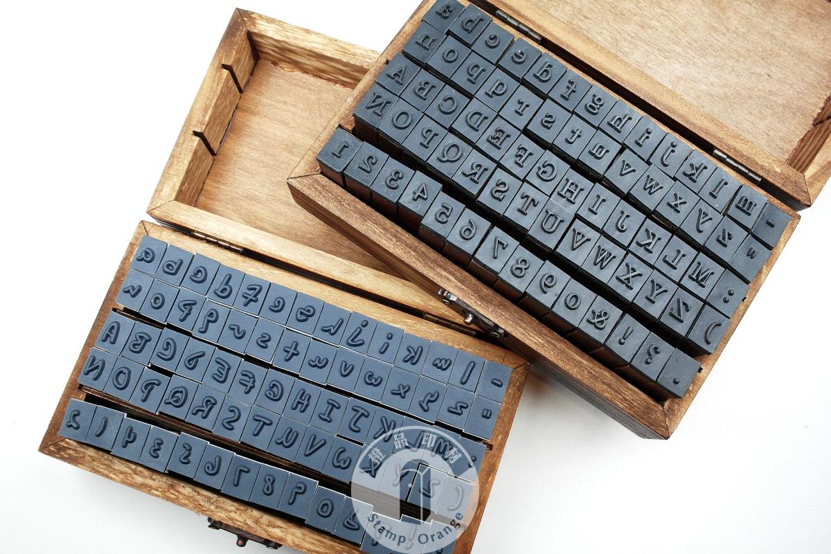 70粒復古木制印 | 橙品印章材料批發