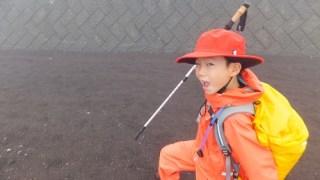 子供でも富士登山フル装備