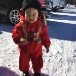 2017年12月下旬 長野 湯の丸スキー場 パウダーベビーカバーオール レッド・サーマルミトン Baby's レッド ご利用レポート