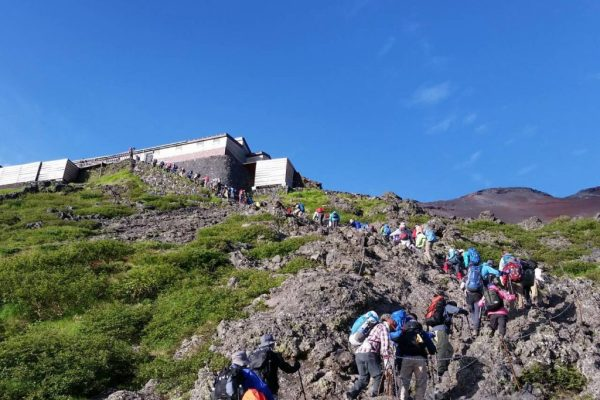 The Mt.Fuji climbing -the Yoshida trail-