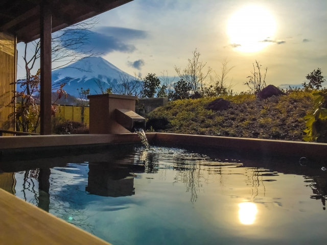 "Japanese hot springs ""Onsen"" around Mt.Fuji"