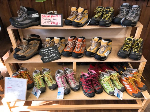 The second hand of full-scale trekking boots only 3,000 yen?!