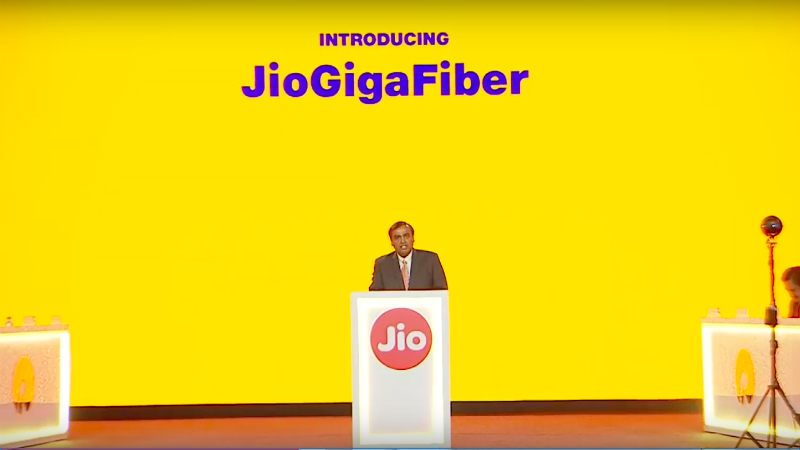 "Reliance Launches ""JioGigaFiber"", FTTH Based Home Broadband Services"