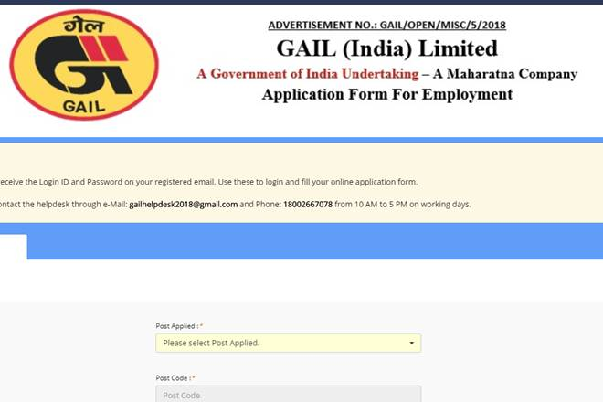 Apply Online For GAIL Recruitment 2018 – Apply Online For 160 Non-Executive Posts