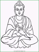 Buddha Kopf Vorlage   Ausmalbilder