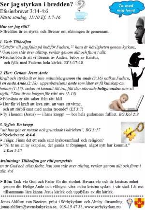 Efesierbrevet del 5 – Ser jag styrkan i bredden?