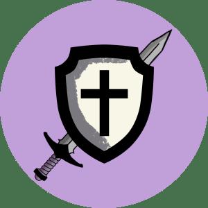 Illustration av ett svärd och en sköld