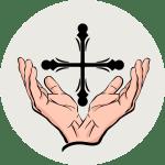 Illustration av händer lyfta i lovsång