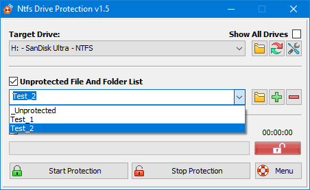 drive protection folder list