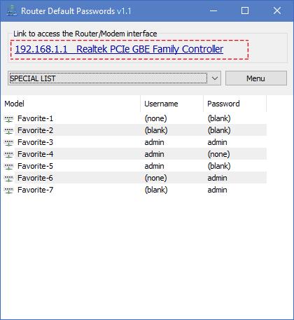 Ruoter Default Password main