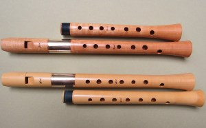One Ganassi soprano in 415/440 (boxwood) and one Ganasso soprano 440/466 (maple) on www.sorel-recorders.nl