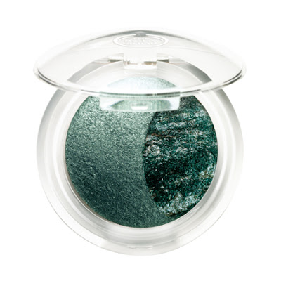 The Body Shop Baked-To-Last Eyeshadow Jade - Swatch and Review