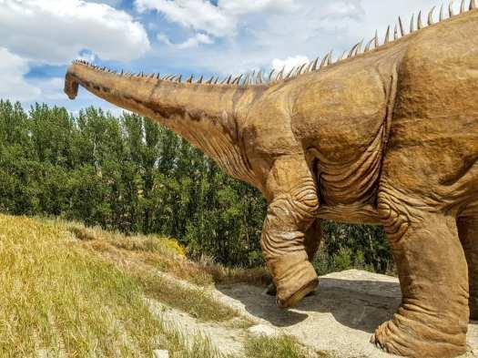 Dinosaurio apatosaurio de Fuentes de Magaña