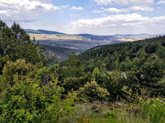 Vistas al valle donde se encuentra Valdelavilla