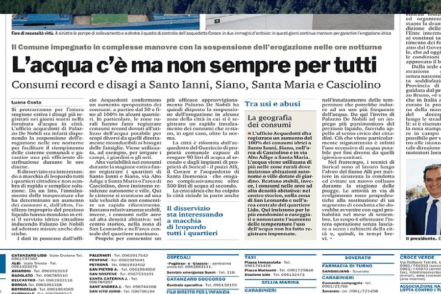 Catanzaro, Gazzetta del Sud svela i consumi anomali 00012
