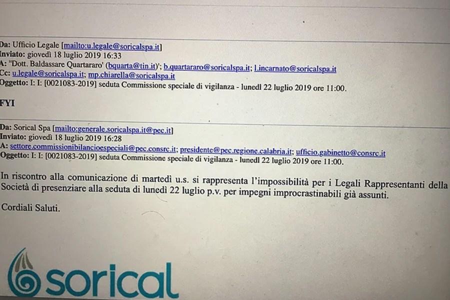 Commissione Vigilanza informata su impossibilità presenza Liquidatori 12 5