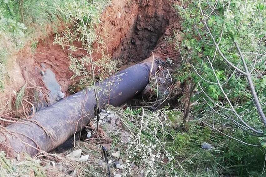 Abatemarco, individuata rottura, in corso i lavori di riparazione 13 1 510x340