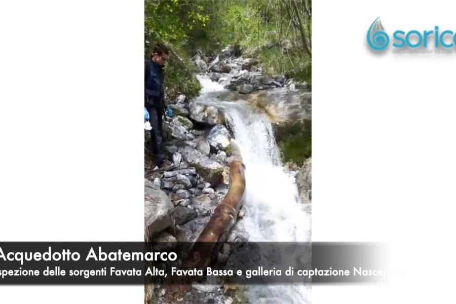 Siccità, ispezionate le sorgenti dell'Abatemarco Favata Alta