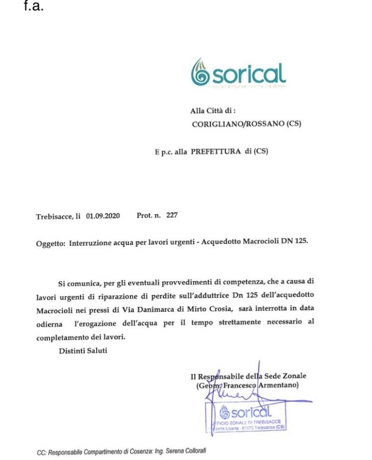 Interruzione acquedotto Macrocioli per Rossano img 4940 727x900