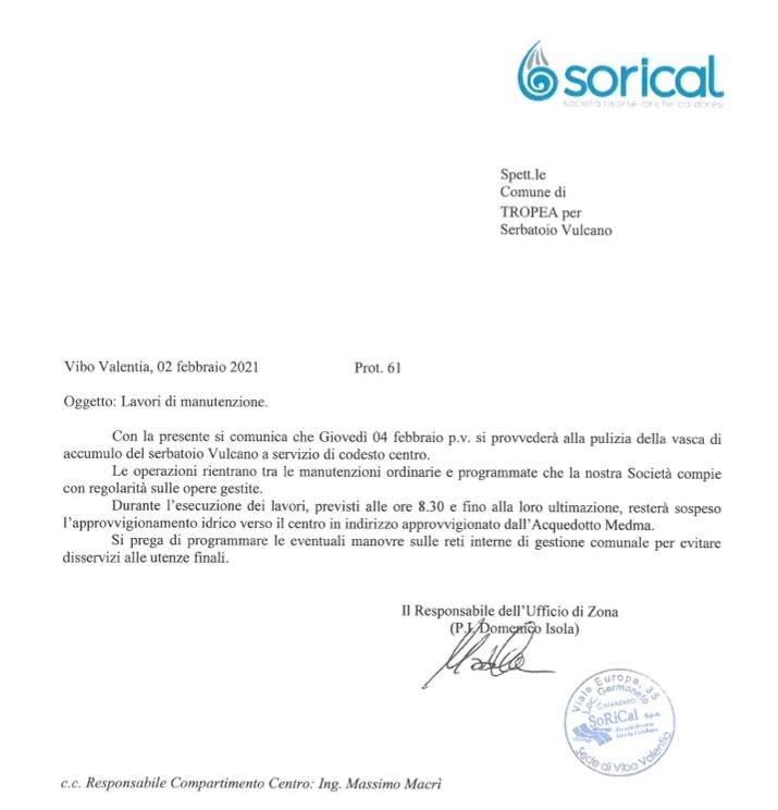Programmato pulizie vasche serbatoi a Ricadi, Tropea e Spilinga image 1