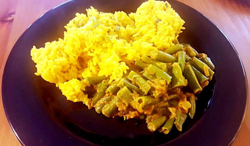 curry de fasole verde